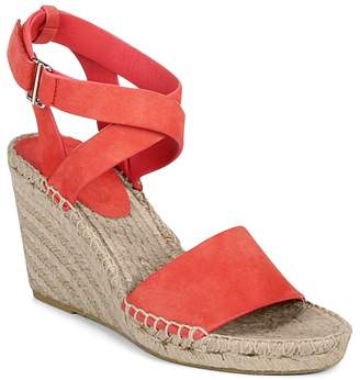 Via Spiga Women's Nevada Suede Platform Wedge Espadrille Sandals