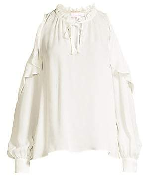 Parker Women's Marjorie Cold Shoulder Ruffle Blouse