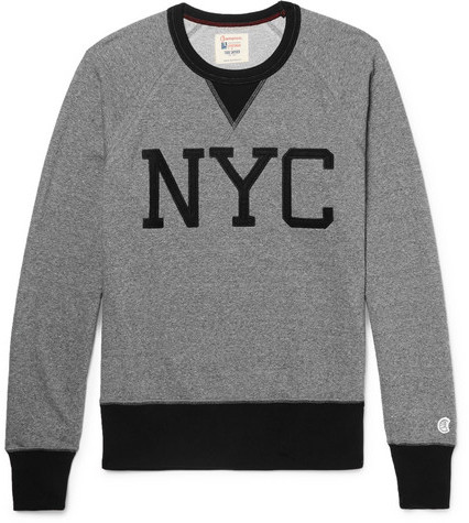 Todd Snyder + Champion Two-Tone Loopback Cotton-Jersey Sweatshirt