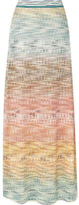 Missoni Metallic Crochet-knit Maxi Skirt - Pink