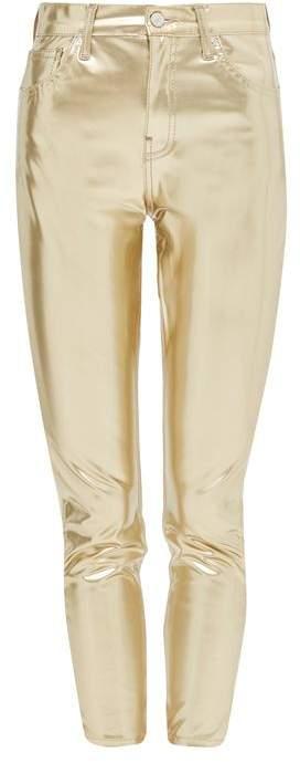 TopshopTopshop Moto gold vinyl jamie jeans