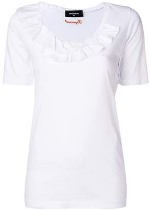 DSQUARED2 ruffle trim T-shirt