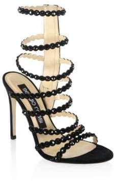 Sergio Rossi Kim Crystal Gladiator Sandals/105MM