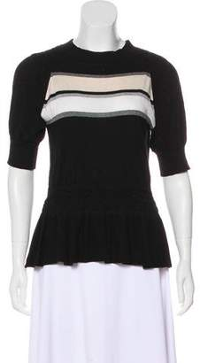 Thomas Wylde Short Sleeve Knit Top