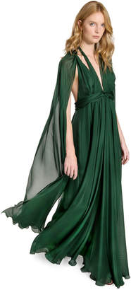 Max Studio draped silk chiffon dress
