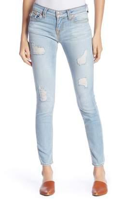 True Religion Super Skinny Flap Pocket Destroyed Jeans