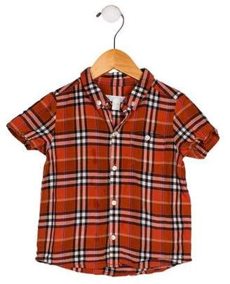 Burberry Boys' Plaid Button-Up Top