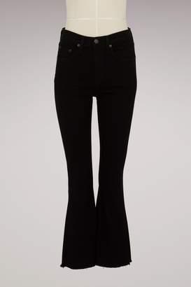 Rag & Bone Cotton Cropped Flare Jeans