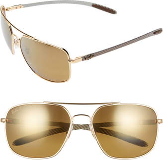 Ray-Ban 62mm Polarized Aviator Sunglasses