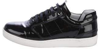 WANT Les Essentiels Patent Leather Low-Top Sneakers