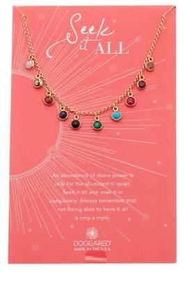 Dogeared Seek It All Bezeled Charm Necklace