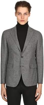 Tagliatore Wool Prince Of Wales Jacket