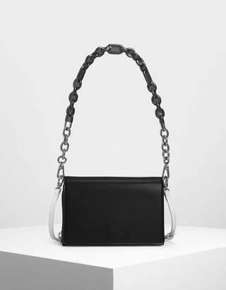 Charles & Keith Chain Strap Crossbody Bag