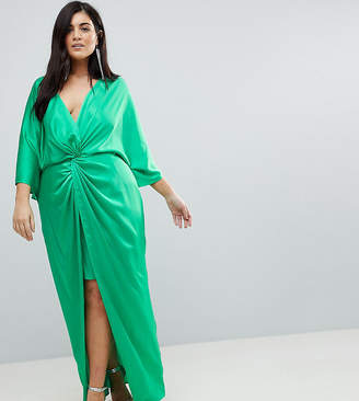 Asos Kimono Twist Front Maxi