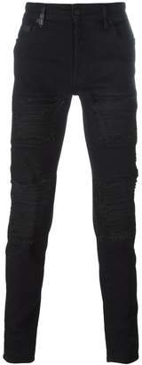 Marcelo Burlon County of Milan distressed slim jeans