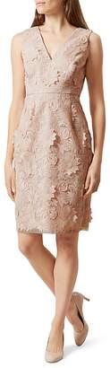 HOBBS LONDON Amelia Floral Appliqué Dress $420 thestylecure.com