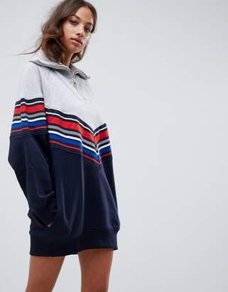 Tommy Hilfiger X Gigi Hadid racing stripes track dress
