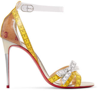 Christian Louboutin Metrisandal 100 Pvc And Leather Sandals - White