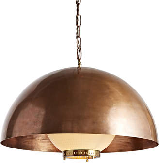 Rejuvenation Large Modern Copper Dome Chandelier w/ Glass Reflector