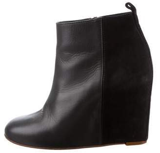 Celine Platform Wedge Ankle Boots