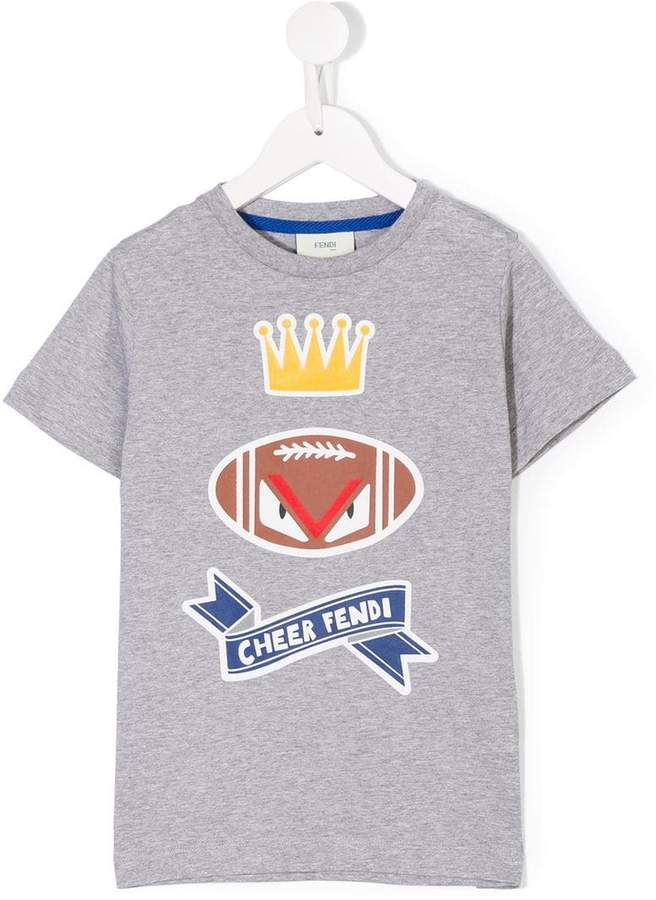 Moster Eye rugby-print T-shirt