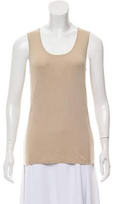 Akris Sleeveless Cashmere Top Beige Sleeveless Cashmere Top