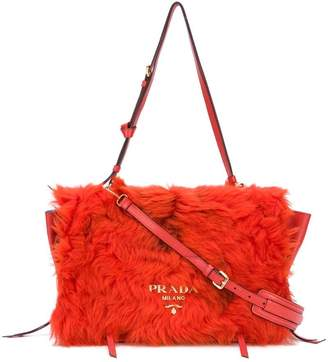 Prada Shearling flap bag