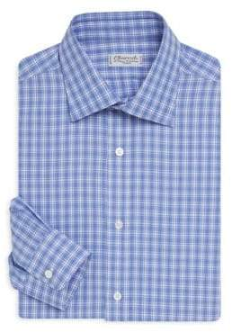 Charvet Regular Fit Plaid Dress Shirt