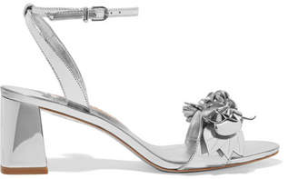 Sophia Webster Lilico Appliquéd Metallic Leather Sandals - Silver