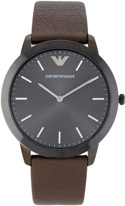 Emporio Armani AR2483 Gunmetal & Brown Watch