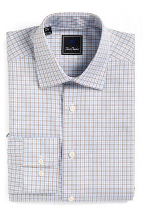 David Donahue Check Regular Fit Dress Shirt $135 thestylecure.com