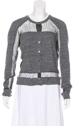 Chloé Lace-Accented Cardigan