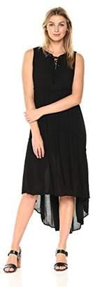 Karen Kane Women's Lace-up Hi-Lo Dress