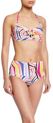Kate Spade High-Waist Geo-Print Bikini Bottoms