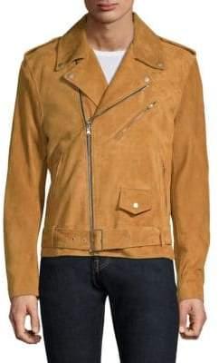 Moto Solid Homme Suede Jacket