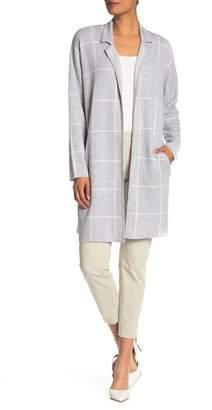 Jones New York Windowpane Sweater Coat