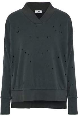 LnA Lake Distressed French Cotton-Terry Sweatshirt