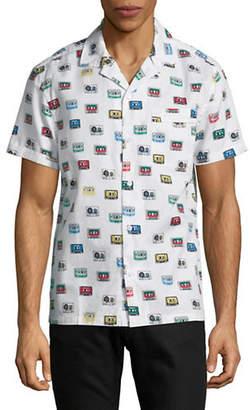 Original Penguin Slim Fit Cassette Short-Sleeve Cotton Sport Shirt