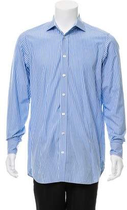 Drakes Drake's Striped Dress Shirt