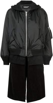 Undercover layered bomber jacket