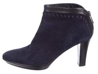 Aquatalia Suede Semi Pointed-Toe Booties