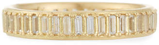 Armenta Old World Sueno White Sapphire Baguette Band Ring