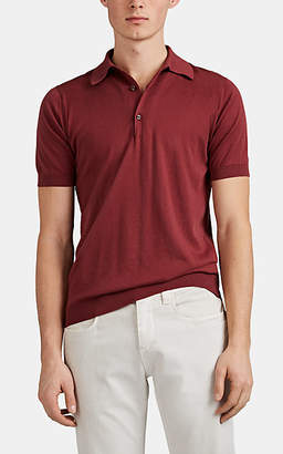 John Smedley Men's Fine-Gauge Sea Island Cotton Polo Shirt - Pink