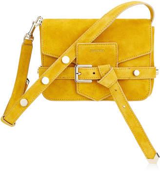 Jimmy Choo LEXIE/S Saffron Suede Cross Body Bag