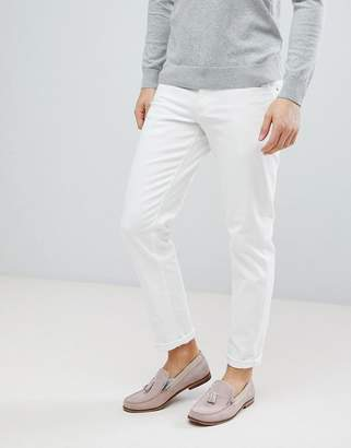 Asos Design DESIGN slim jeans in white