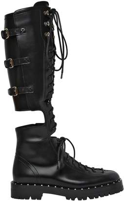 Valentino 30mm Soul Rockstud Cutout Leather Boots