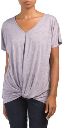 V-neck Dolman Sleeve T-shirt