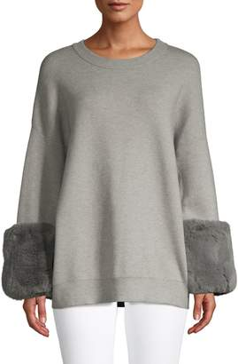 Saks Fifth Avenue Faux Fur-Trim Sweater