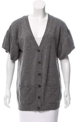 BCBGMAXAZRIA Button-Up Wool Cardigan