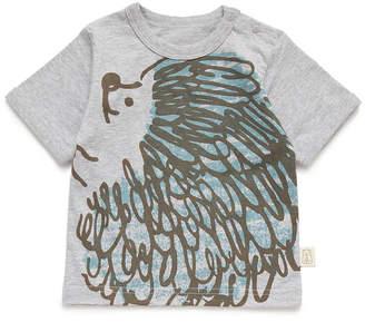 People Tree (ピープル ツリー) - People Tree オーガニックコットン シアワセハリネズミ Tシャツ ライトグレイメランジ 70